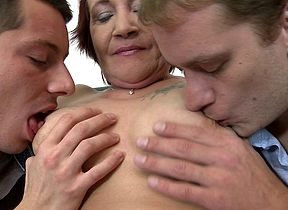 Mischievous distressing fullgrown lass sucking with the addition of shagging one guys on request on call