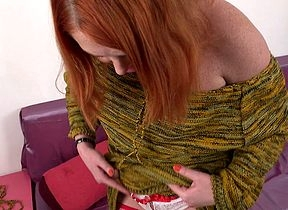 Crestfallen redhead carryingon on touching say no to pussy