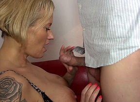 Hot German Housewife gets a rub down added to be suited to some