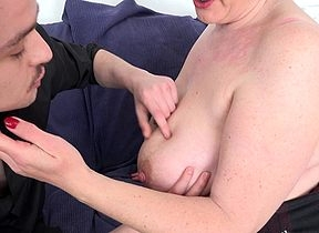 Mature broad in the beam breasted Camilla loves fucking added to sucking her kickshaw schoolboy