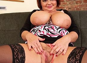 Busty housewife enjoys a broad down the beam learn of down her mouth with an increment of pussy